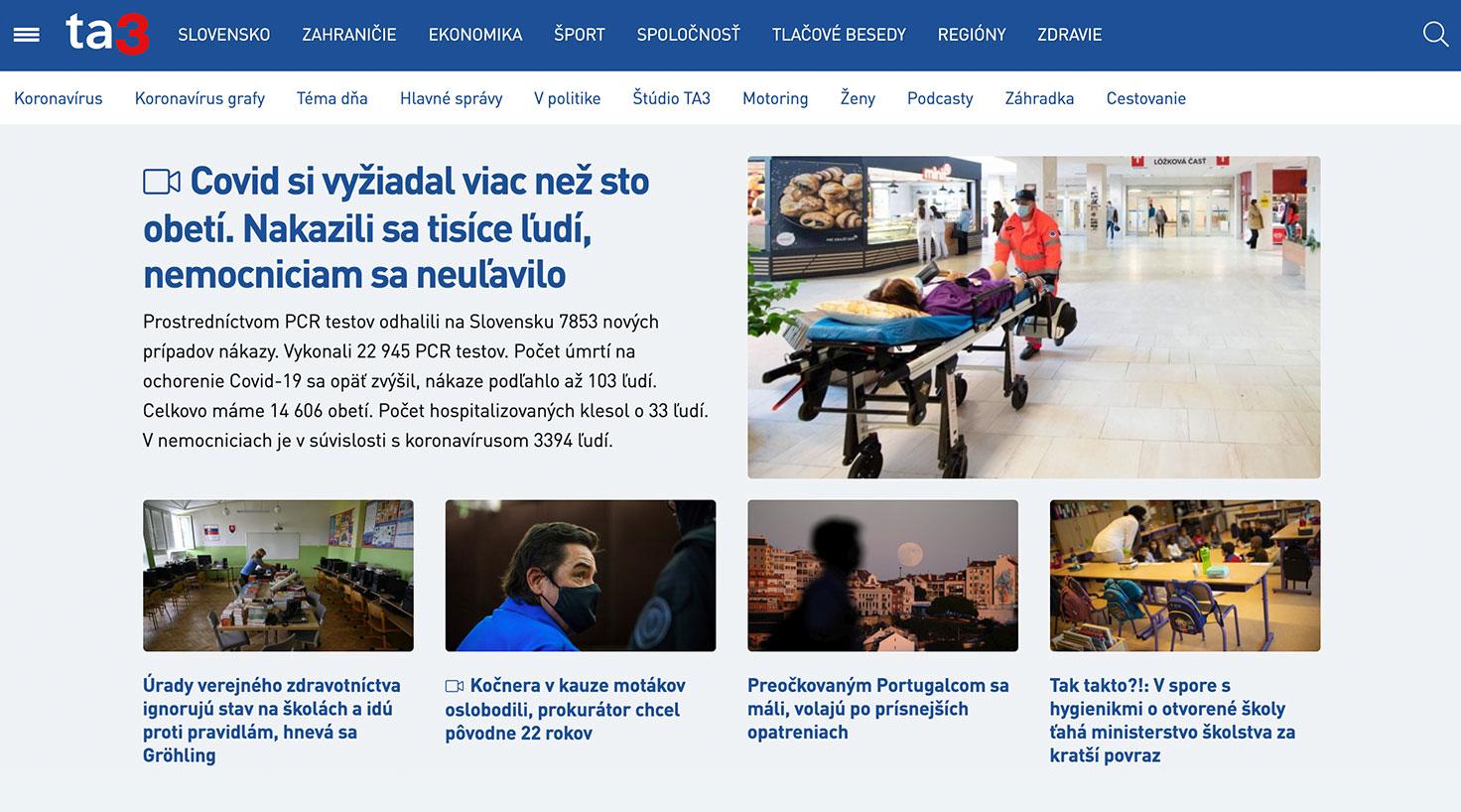 Reklama na webe TA3.com