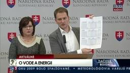 TB I. Matoviča a A. Verešovej o kauze zvýšených cien energií