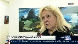 Soňa Herényiová-Belanová predstavila sériu abstraktných malieb