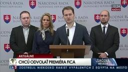 TB predstaviteľov SAS a OĽaNo-NOVA o návrhu na odvolanie R. Fica
