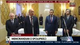 TB pri príležitosti podpisu Memoranda medzi Úradom podpredsedu vlády a tromi bratislavskými univerzitami