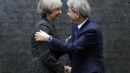 Mayová rokovala s talianskym premiérom o budúcnosti po Brexite