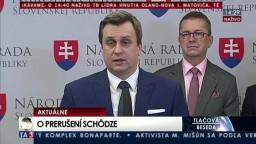 TB A. Danka a podpredsedov NR SR o prerušení mimoriadnej schôdze