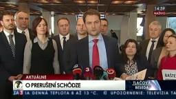 TB I. Matoviča o zrušení parlamentnej schôdze