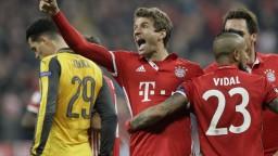 Bayern rozstrieľal Arsenal a je jednou nohou vo štvrťfinále Ligy majstrov