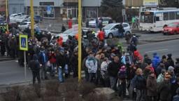Prešovčania blokovali cestu, kritizujú dopravnú situáciu v meste