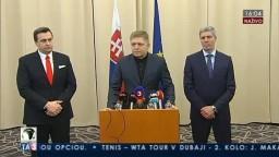 TB R. Fica, A. Danka a B. Bugára po zasadnutí koaličnej rady