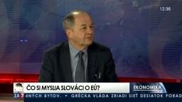 HOSŤ V ŠTÚDIU: V. Páleník o prieskume Eurobarometer
