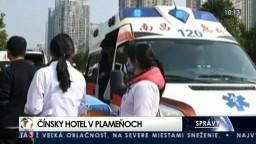 Požiar v čínskom hoteli si vyžiadal obete, v budove môžu byť ďalší