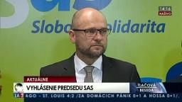 TB predstaviteľov SaS o obvineniach z užívania drog