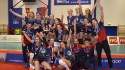 Slovenské volejbalové šampiónky VK Slávia premohli Chorvátky