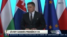 TB R. Fica po stretnutí predstaviteľov krajín V4