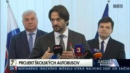 TB Á. Érseka, P. Plavčana a R. Kaliňáka o projekte školských autobusov