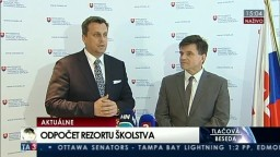 TB A. Danka, P. Plavčana o odpočte rezortu školstva