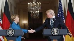 TB A. Merkelovej a D. Trumpa po stretnutí v Bielom dome