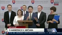 TB opozičných poslancov pred rokovaním poslaneckého grémia o amnestiách
