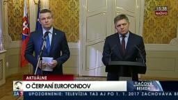 TB R. Fica a P. Pellegriniho o čerpaní eurofondov