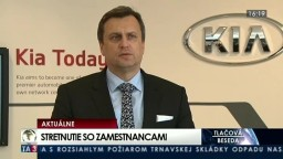 TB A. Danka po stretnutí so zamestnancami KIA Žilina