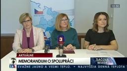 TB G. Matečnej a K. Šlechtovej o memorande cezhraničnej spolupráce