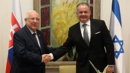 Kiska sa stretol s izraelským prezidentom, navštívil aj pamätník holokaustu