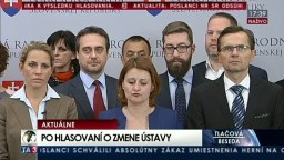 TB predstaviteľov SaS po hlasovaní o zmene Ústavy SR