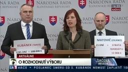 TB poslancov OĽaNO-NOVA o rozhodnutí Výboru pre nezlučiteľnosť funkcií