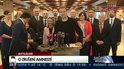 TB I. Matoviča, J. Budaja po hlasovaní o zrušení Mečiarových amnestií