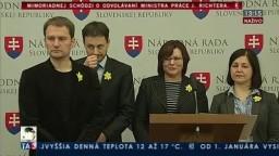 Brífing poslancov za hnutie OĽANO-NOVA o odvolávaní ministra Richtera