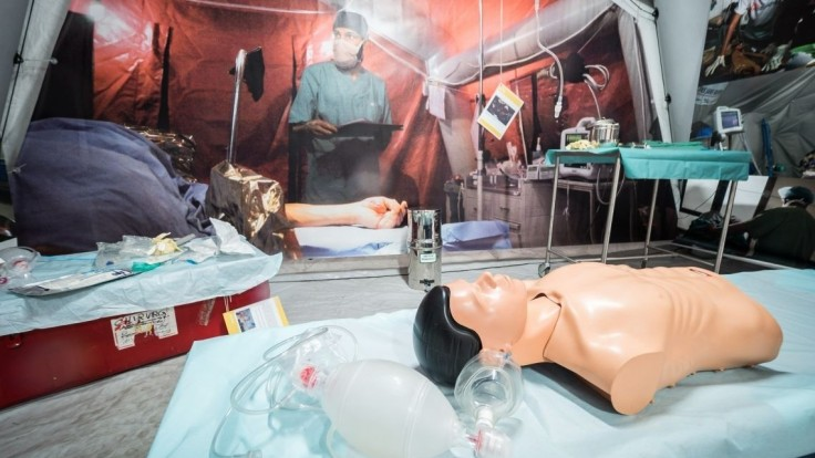 Fotogaléria: V centre Bratislavy vyrástla poľná nemocnica