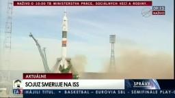 Štart rakety Sojuz MS-04 z kozmodrómu Bajkonur