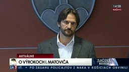 TB R. Kaliňáka, na ktorej reagoval na výroky Igora Matoviča
