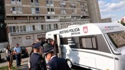 Na problémový bratislavský Pentagón dohliada policajný karavan