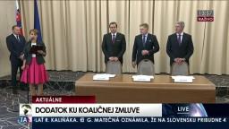 TB koaličných lídrov po podpise dodatku ku koaličnej zmluve