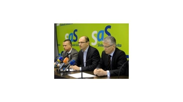 SaS predložila do parlamentu zrušenie imunity
