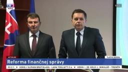 TB P. Kažimíra a F. Imreczeho o reforme finančnej správy