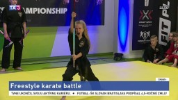 Na freestyle karate battle bojovali dievčatá, predviedli dynamické predstavenie