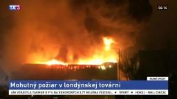 V severnej časti Londýna vypukol mohutný požiar, plamene zničili továreň