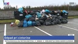Ľudia kritizujú zber odpadu pri cintoríne, obávajú sa zhoršenia