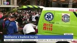 Burza prerušila prevádzku, z budovy vyniesli asi desiatku ľudí