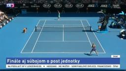 Vo finále Australian Open sa stretnú Halepová a Wozniacka