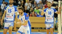 Volejbalisti Nitry a Myjavy si zmerali sily v zápase stredoeurópskej súťaže