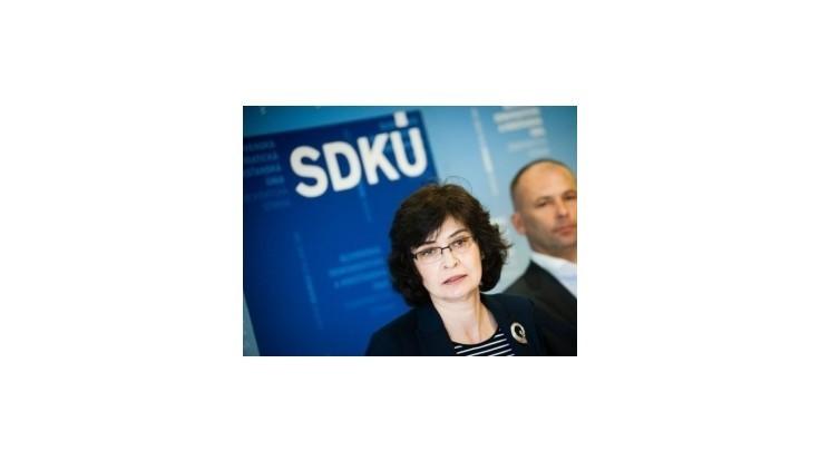 Žitňanská chce vytvoriť klub priateľov SDKÚ-DS