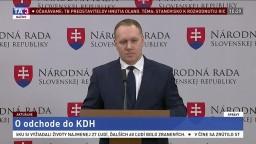 TB poslanca R. Vašečku o odchode do KDH