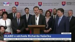 TB predstaviteľov hnutia OĽaNO o odchode R. Vašečku