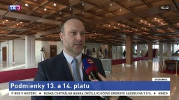 Poslanec R. Baláž o návrhu zákona a podmienkach vyplácania 13. a 14. platu