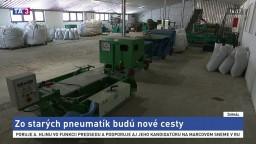 Firma recykluje staré pneumatiky, poslúžia na nové chodníky