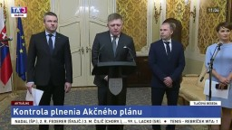 TB R. Fica, P. Pellegriniho a P. Kovaříka o kontrole plnenia Akčného plánu