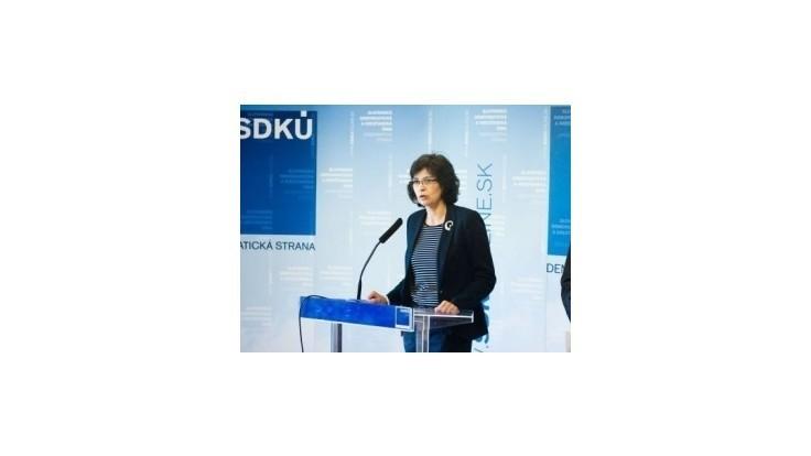 Žitňanská: Programové vyhlásenie je bianko šek pre ministrov