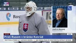 Komentátor J. Novotný o olympijskej premiére brankára Konráda