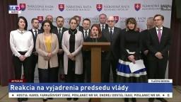 TB poslancov SaS o vyjadreniach predsedu vlády